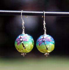 Hey, I found this really awesome Etsy listing at https://www.etsy.com/listing/243586184/lampwork-glass-earrings-glass-dragonfly