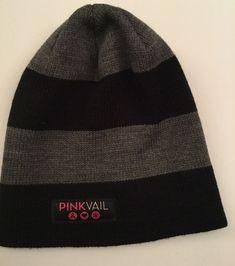 490074741c4 Unisex Pink Vail Bula Hat - Large Black  amp  Gray Stripes  fashion   clothing