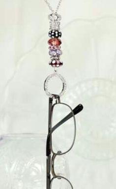 Eye glasses holder necklace