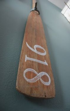 DIY ~ Nine. Eighteen ~ Personalizing A Garage Sale Set Of Oars ~ It's the little things that make a house a home...