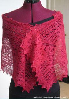 Crochet Knitting Handicraft: Red Scarf Knitting