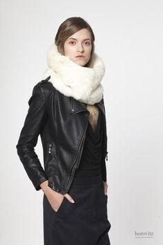 creamy-white rabbit fur snood – horovitz