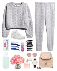 """""""Untitled #701"""" by winnnna ❤ liked on Polyvore featuring H&M, NIKE, Kate Spade, Le Specs, Glam Bands, STELLA McCARTNEY, Batiste, Guerlain, bkr and INC International Concepts"""