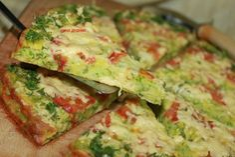 Schnelle Zucchinipizza