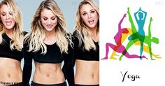 Here you can find the workout with 5 Yoga Moves that was used even by famous actresses, such Kaley Cuoco. It was created by Amy Opielowski, CorePower Yoga program manager.