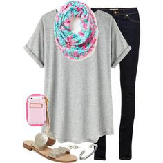A fashion look from May 2014 featuring t shirts, blue jeans and jack rogers sandals. Browse and shop related looks.