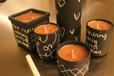 Sweet Athena: Makeover Monday: Chalkboard Candles