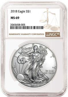 W $1 American Silver Eagle NGC MS70 FDI Black Label Red Core 2020