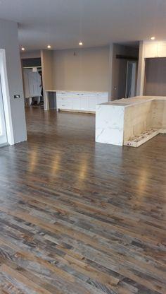Red Oak Floor With Custom Gray Stain Hardwood Floors
