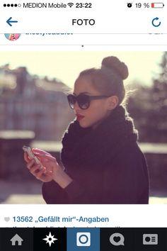 Sunglasses and red lipstick