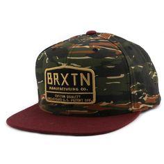 Casquette Brixton Snapback AXLE Camouflage #mode @BrixtonMfg #streetwear #bonplan sur Hatshowroom.com votre boutique Headwear.