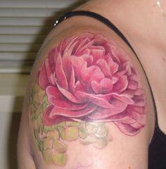 New Pink Peony Tattoo! by Ladybug's Camera, via Flickr