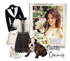 """""""Casetify Giveaway"""" by fantasiegirl ❤ liked on Polyvore featuring Moschino, Fendi, self-portrait, Casadei, OKA, women's clothing, women, female, woman and misses"""