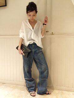 Tall Fashion Tips .Tall Fashion Tips Denim Fashion, Fashion Pants, Look Fashion, Fashion Outfits, Fashion Trends, Latex Fashion, Classy Fashion, Fashion Vintage, French Fashion