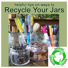 Helpful tips on ways to recycle those empty candle jars - Let's get organized! by Candle Crest