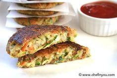 Zucchini fritters Recipe | Fried Zucchini Potato Pancakes