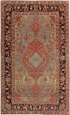 Antique Mohtashem Kashan Persian Rug 44635 | Nazmiyal Collection