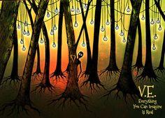 Enchanted Forest - Original Version by eyciirve on DeviantArt Fantasy Paintings, Original Version, Pablo Picasso, Enchanted, Mystic, My Arts, Deviantart, Canning, Landscape