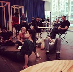 perfect picture of what a rehearsal looks like.