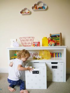 A review of the GLTC Easy Reach Storage - grey stars storage unit from Great Little Trading Company, really useful and practical item of storage furniture for children's rooms
