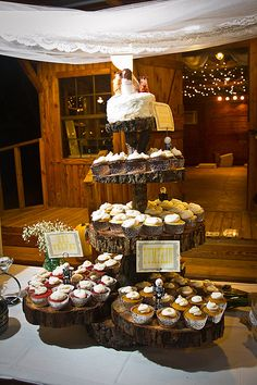 The infamous homemade cupcake stand in all it's glory- I want another carrot cake cupcake!