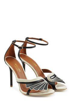 Sandalen aus Leder im Two Tone Look mit Stiletto-Heel - Malone Souliers | WOMEN | DE STYLEBOP.COM