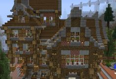 Fantasy Town House 3 - GrabCraft - Your number one source for MineCraft buildings, blueprints, tips, ideas, floorplans!