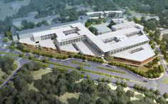 construction is underway on the ghana ridge hospital -- the country's largest such facility -- designed by global architectural firm perkins + will.