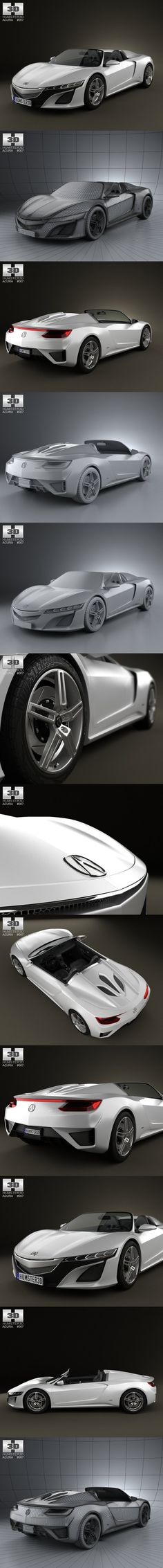 Acura NSX convertible 2012. 3D Vehicles