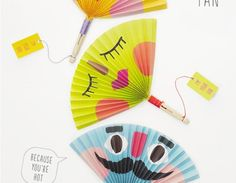 Could use this for displaying great work samples from students ....Paper Fan Tutorial - Summer Crafts