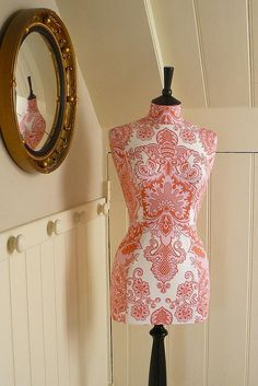 Amy Butler fabric tailored mannequin by Corset Laced Mannequins, via Flickr