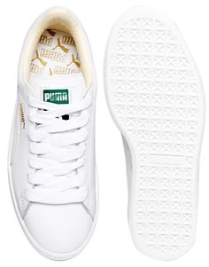 low priced 54f17 73adc Puma Basket Classic White Sneakers