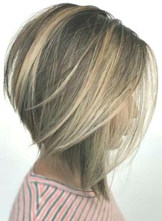 40 Stunning Bob Haircuts Nowadays Bob haircut ideas do not go out of trends. Explore photos of the sexiest classiest and coolest bobs today. Short Haircuts - July 14 2019 at Asymmetrical Bob Haircuts, Stacked Bob Hairstyles, Short Hairstyles For Thick Hair, Hairstyles Haircuts, Short Hair Styles, Short Haircuts, Teenage Boy Hairstyles, Formal Hairstyles, Bobs For Thin Hair