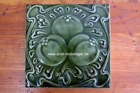 Art Nouveau tile tile 15.6 x 15.6 cm floral pattern good condition