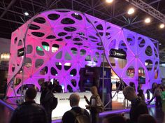A whole booth changing its colour at EuroShop in H9,D73 by DG Studio sega