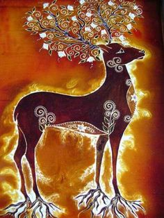 Magical Spirit Deer ~ spirit of love, union with nature... rooted... emanating light