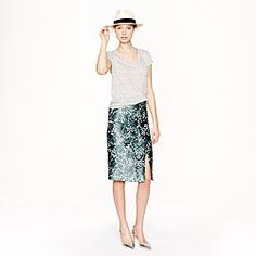 Collection pencil wrap skirt in photo lace