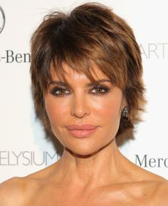 Lisa Rinna Layered Razor Cut - Short Hairstyles Lookbook - StyleBistro
