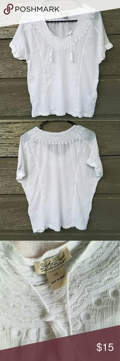 Lucky Brand White Peasant Top Light, bohemian, peasant top.   Feel free to ask me any additional questions. Happy Shopping! 15% off bundles 3+. Lucky Brand Tops Blouses