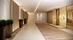 Hall edificio Idea Portal, Hotel Apartment, Hall Design, Entrance Hall, Hostel, Terrazzo, Stairs, House Design, Interior Design