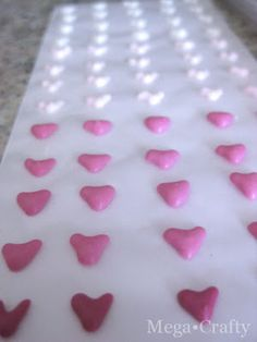 Mega•Crafty: Valentine's Paper Tape Candy (Candy Buttons)