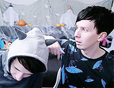 Phil looks like an actual angel in this gif holy fuck