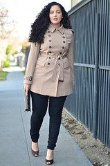 Girl With Curves: The Ultimate Classic Fall Outfits For Work, Fall Fashion Outfits, Casual Fall Outfits, Classy Outfits, Look Fashion, High Fashion, Moda Feminina Plus Size, Plus Size Coats, Girl With Curves