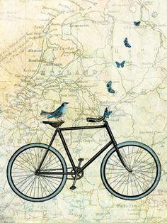 Bike Country, Marion McConaghie Tavlor, Glicée