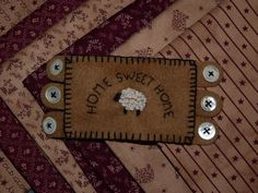 Une autre créa made in MOI ...un mini penny rug !