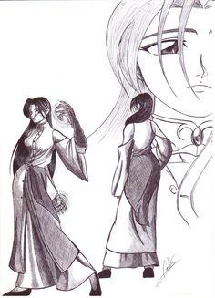 - Valeska (Maga). - HQ O Livro Élfico. Desenho feito com caneta esferográfica.