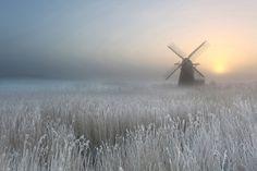 ***Winter Sunrise, Herringfleet Smock Mill (Suffolk, England) by Gary Horner