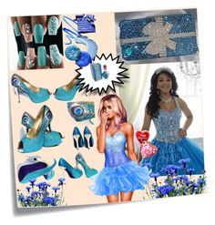 """A BLUE MOOD"" by dinyill-wallace ❤ liked on Polyvore featuring Post-It"
