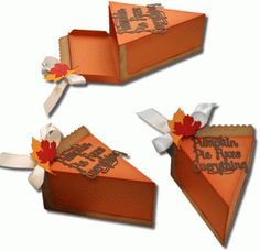 Silhouette Design Store: 3d pumpkin pie box by Jamie Cripps (perfect for Thanksgiving leftovers! Now 25% off until Nov 18)
