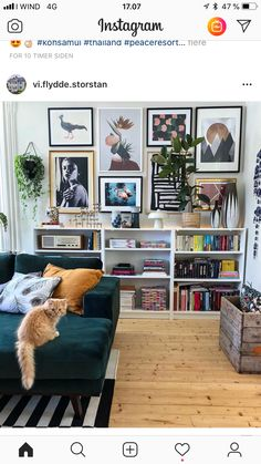 Velvet Green Gallery Eklektisches Bild Ikea Billy Bücherregal W . - Velvet Green Gallery Eklektik Bild Ikea Billy Bücherregal W … - Eclectic Living Room, Living Room Sofa, Home Living Room, Apartment Living, Living Room Designs, Living Room Bookshelves, Living Room Shelving, Cozy Living, Eclectic Decor